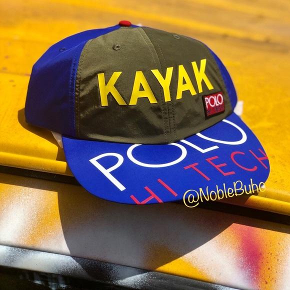 93130243e POLO Ralph Lauren Hi Tech Kayak Long Bill Hat